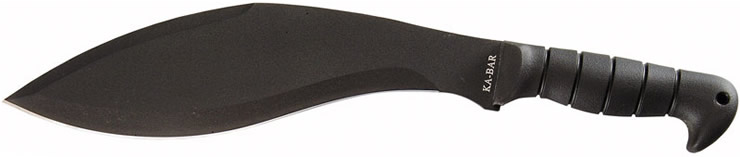 Full tang design with 1085 carbon steel blade material.
