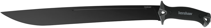 18-Inch camp knife with 65Mn high carbon steel blade.