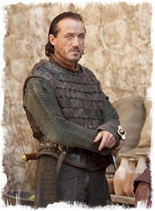 Actor Jeremy Flynn as Bronn in Game of Thrones.