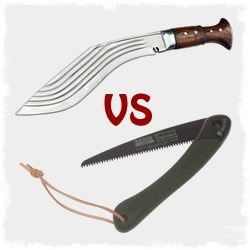 Best Compact Wood Cutting Tool: Kukri or Folding Saw?