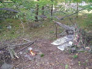 Lean-to Survival Shelter