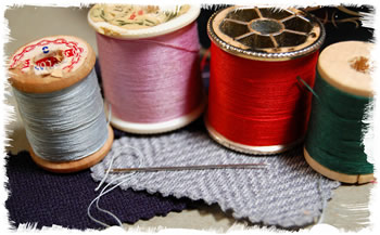 Needle and Thread for sewing and mending cloth
